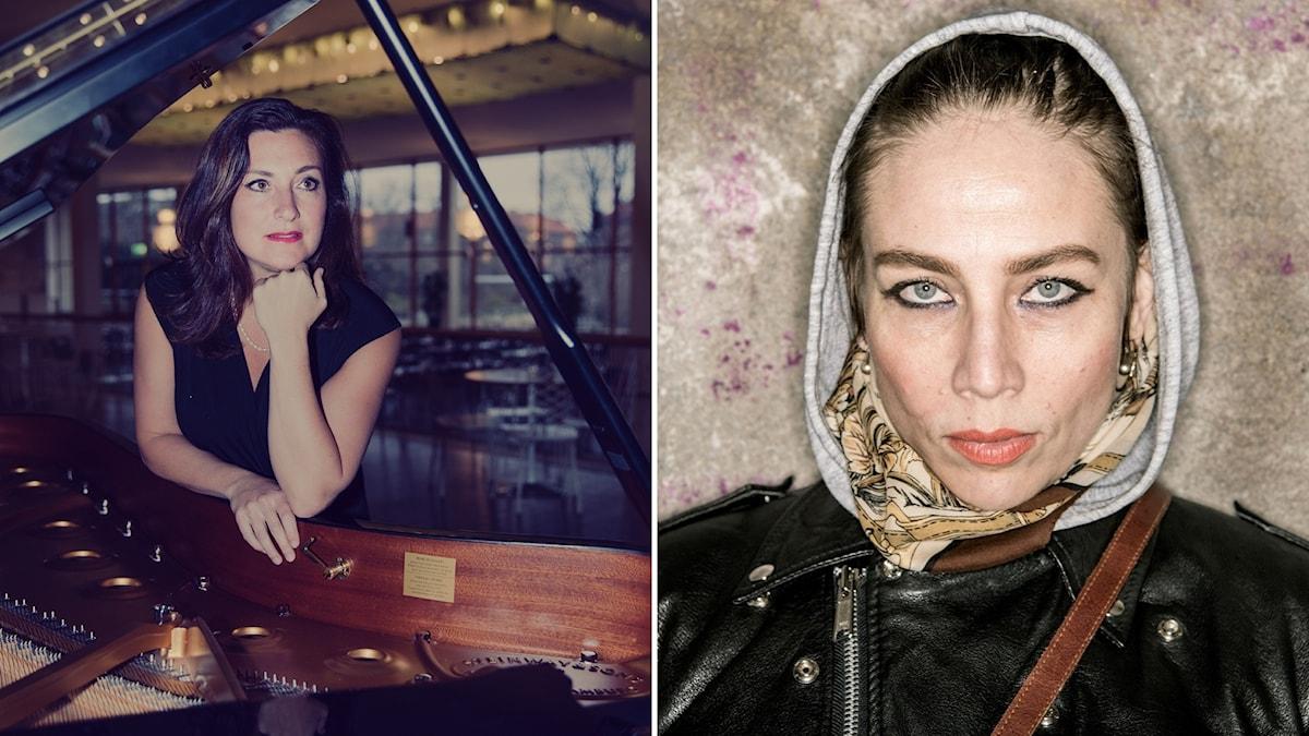 Pianisten och psykologen Francisca Skoogh och artisten Jenny Wilson.