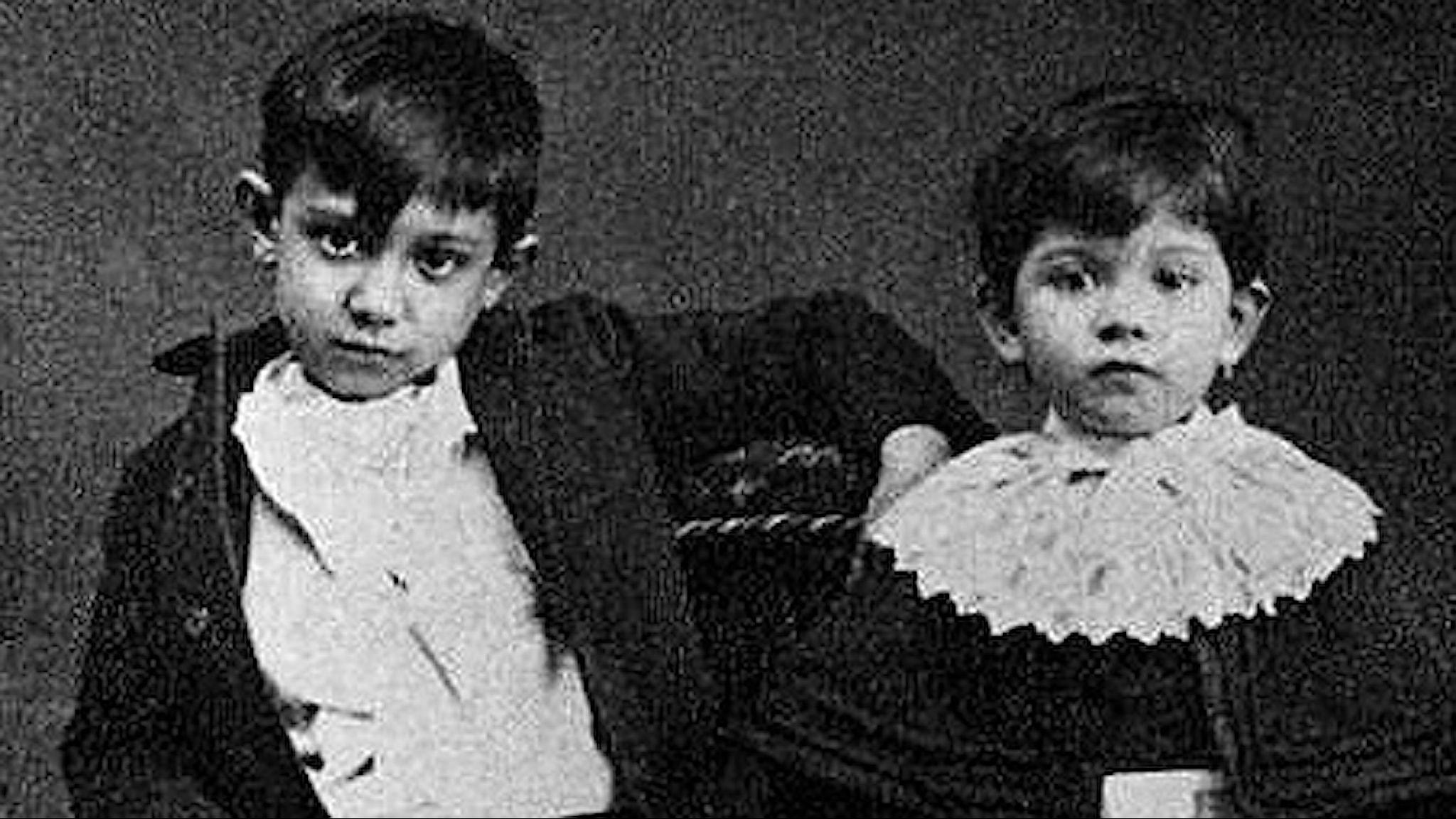 picasso och hans syster Lola.
