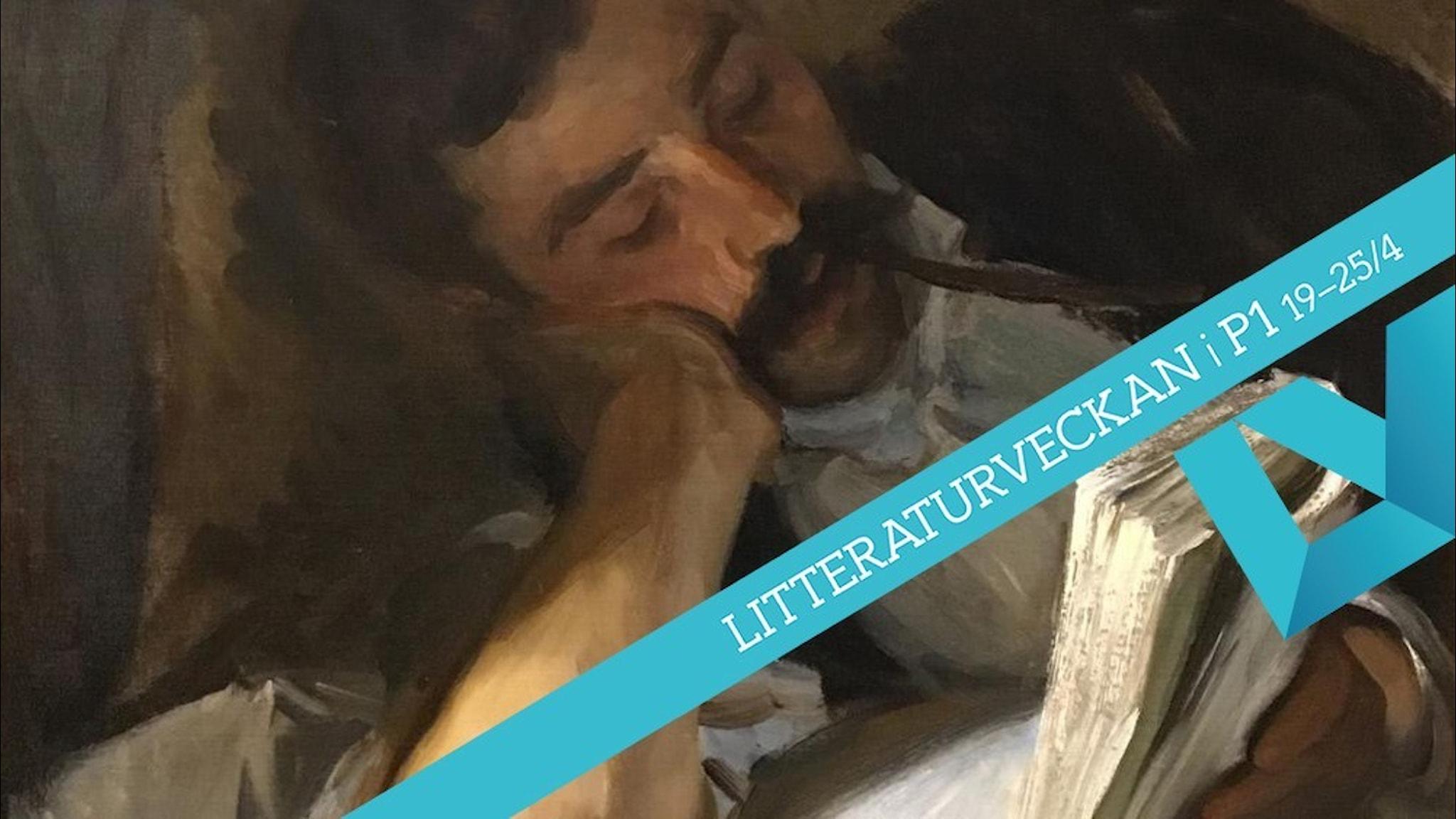"""John Singer Sargens målning """"Läsande man"""" från tidigt 1900-tal."""