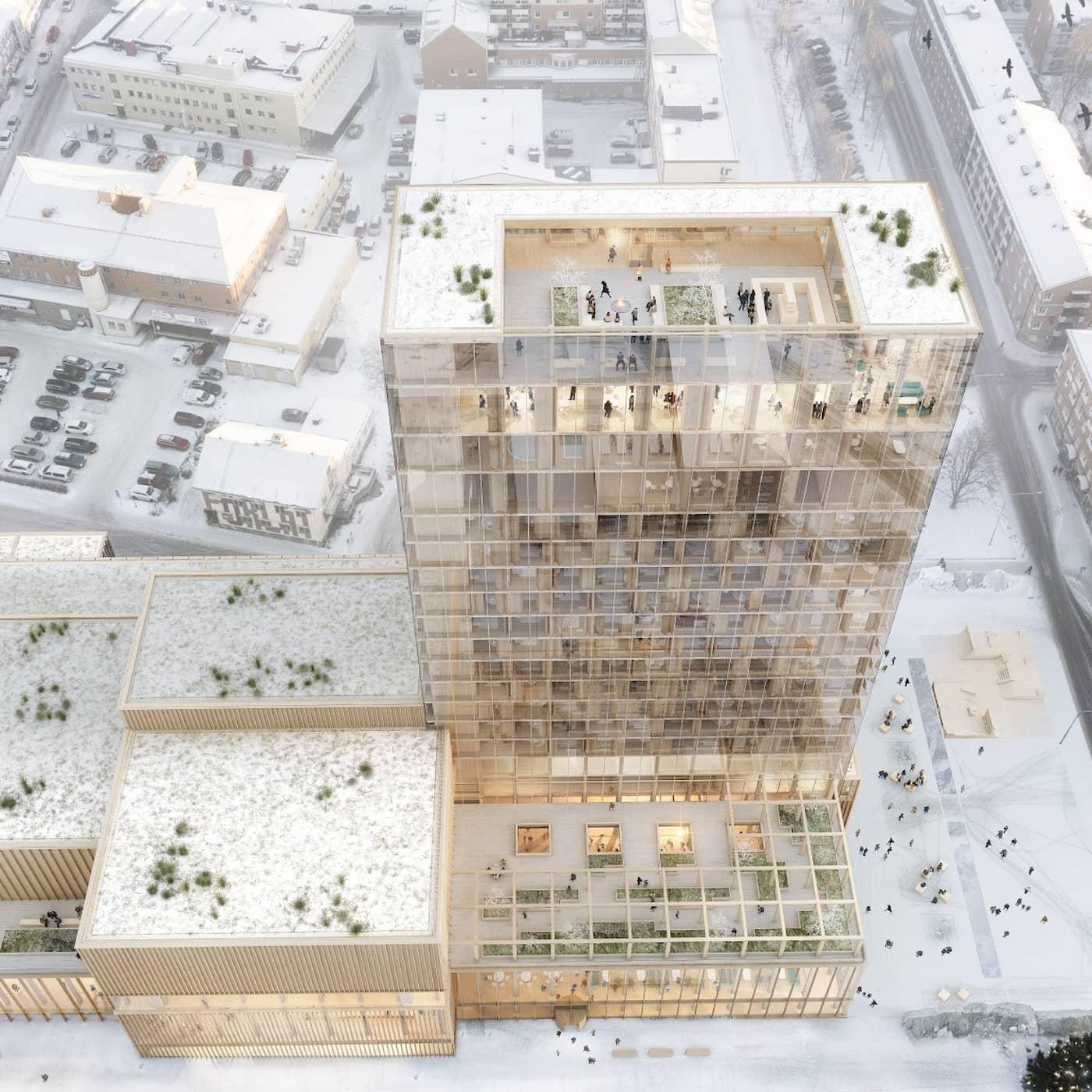 Kulturhuset Sara i Skellefteå tar träarkitekturen till nya höjder
