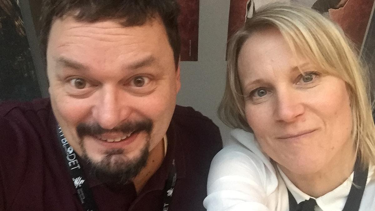 Roger Wilson och Emma Engström på Göteborgs filmfestival.