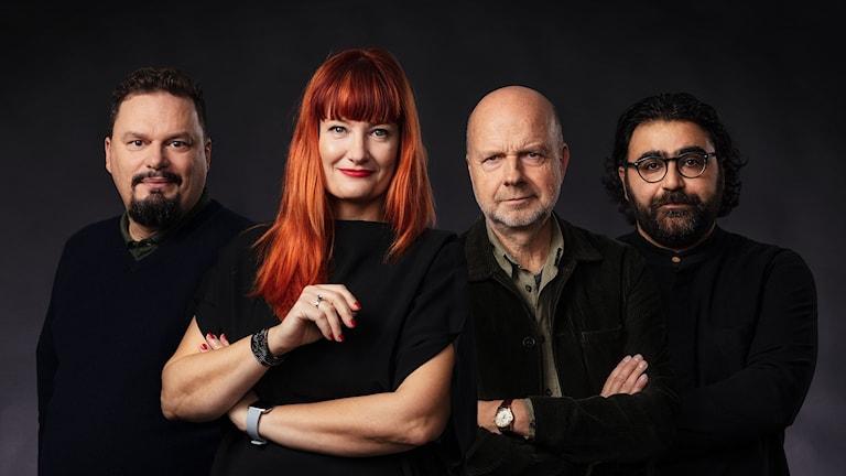 P1 Kultur Roger Wilson, Lisa Wall, Gunnar Bolin och Saman Bakhtiari P1 Sveriges Radio