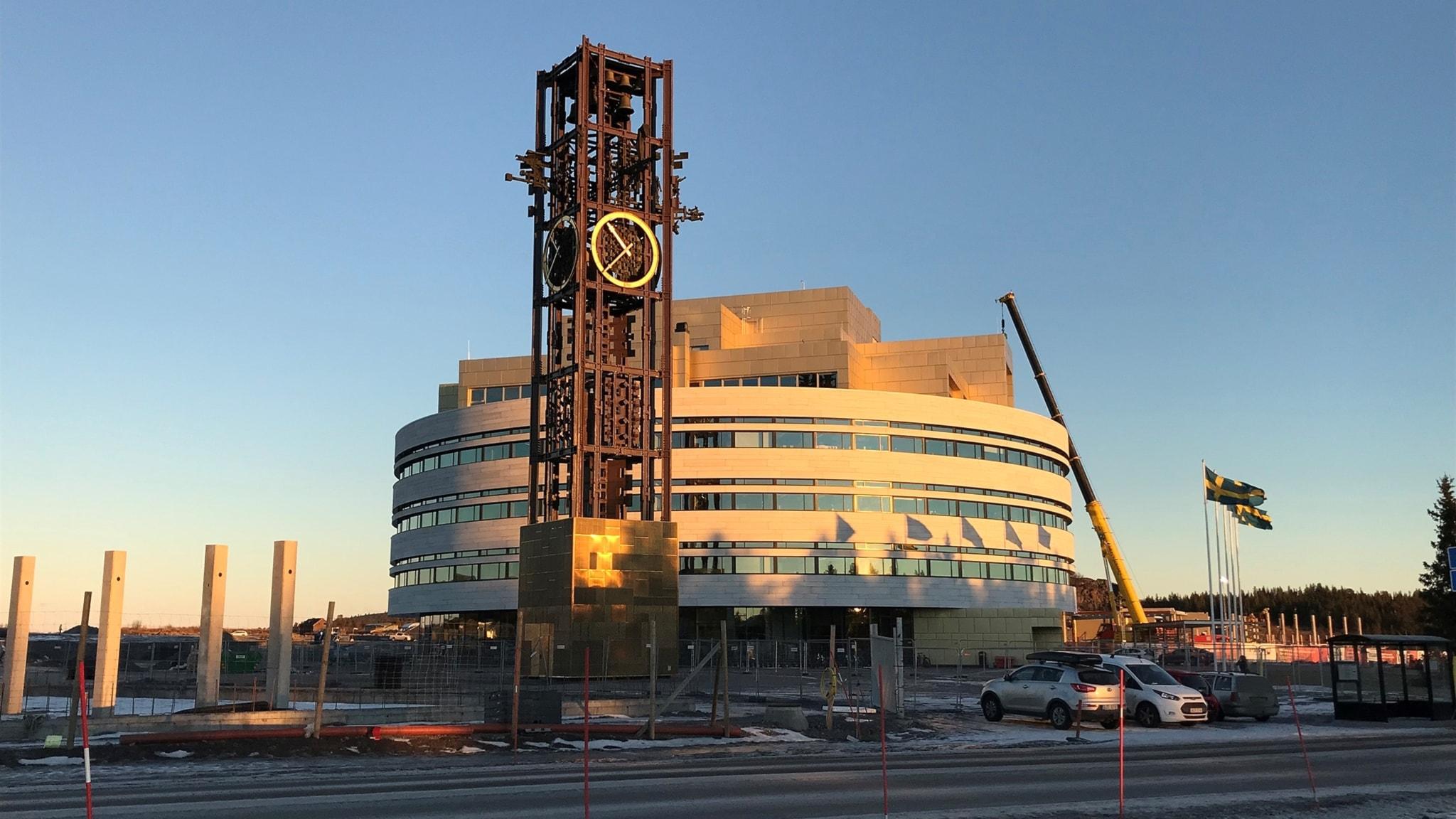 Första byggnaden i nya Kirunas stadskärna invigs