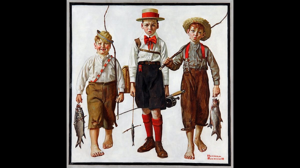 Norman Rockwell - The Catch.
