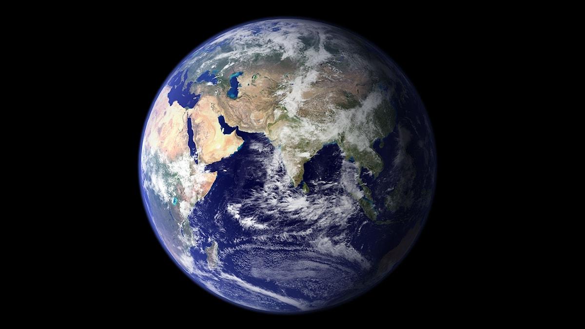 Jorden, sett från rymden.