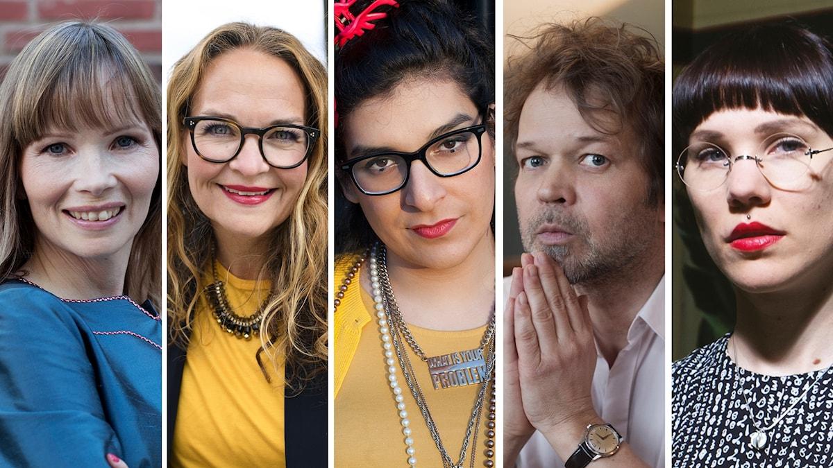 Ann-Hélen Laestadius, Elin Ek, Yolanda Aurora Bohm Ramirez, Tomas Bannerhed och Lyra Koli.