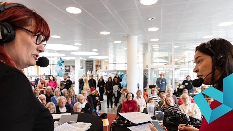 P1 Kultur direkt från stadsbibliotek i Växjö med programledare Lisa Wall och gäst Marie Lundström.