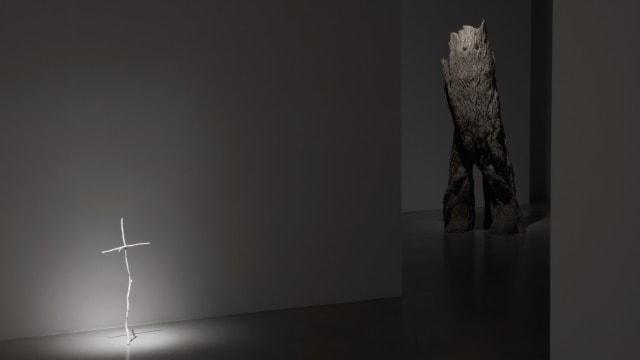 Bild från Johan Thurfjells utställning på Galleri Nordenhake i Stockholm.