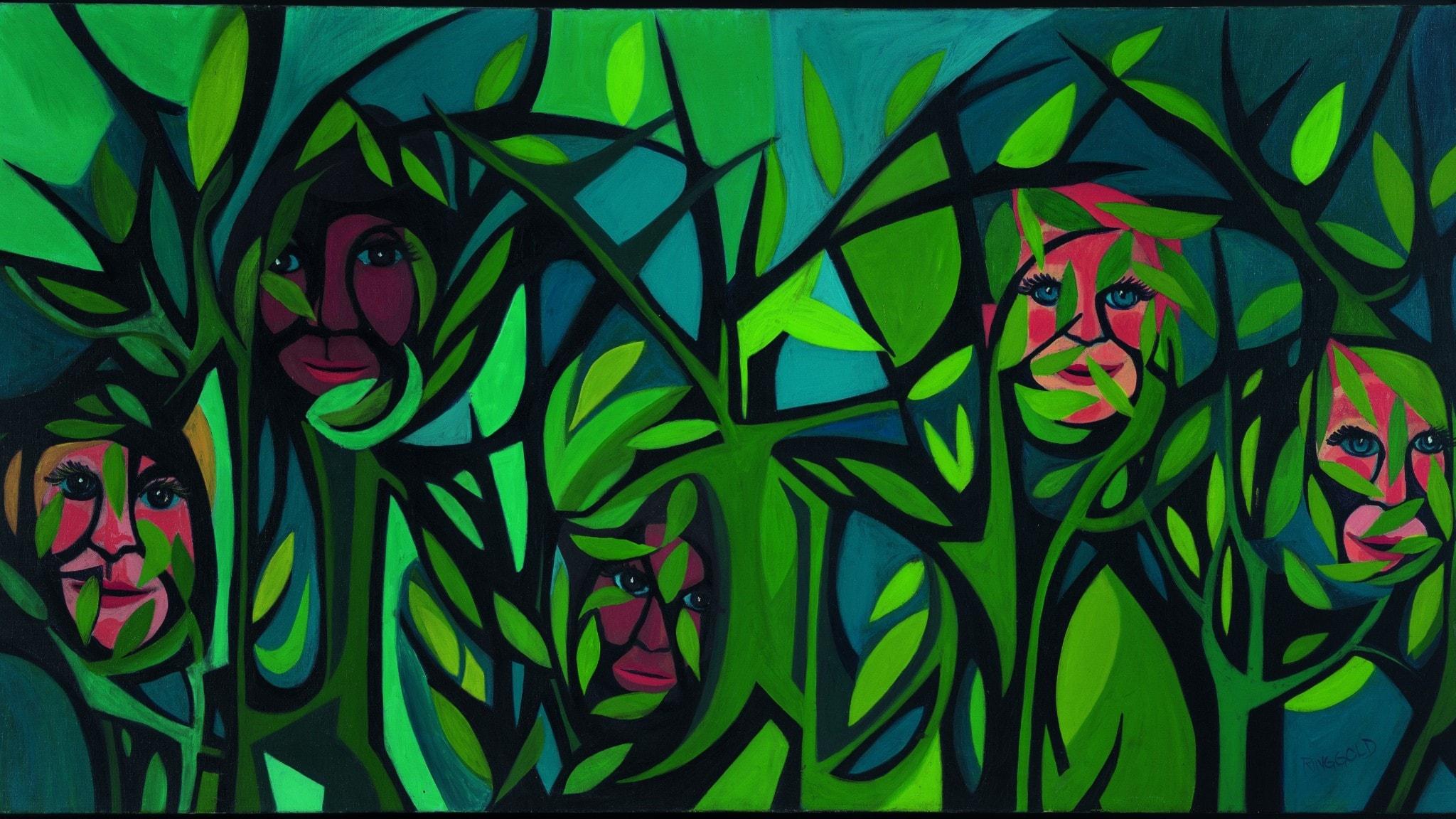 Faith Ringgold - American People Series #15 Hide Little Children