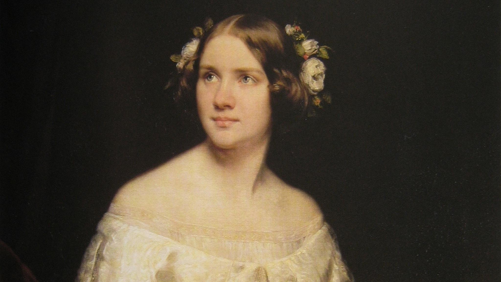Jenny Lind porträtterad av Eduard Magnus.