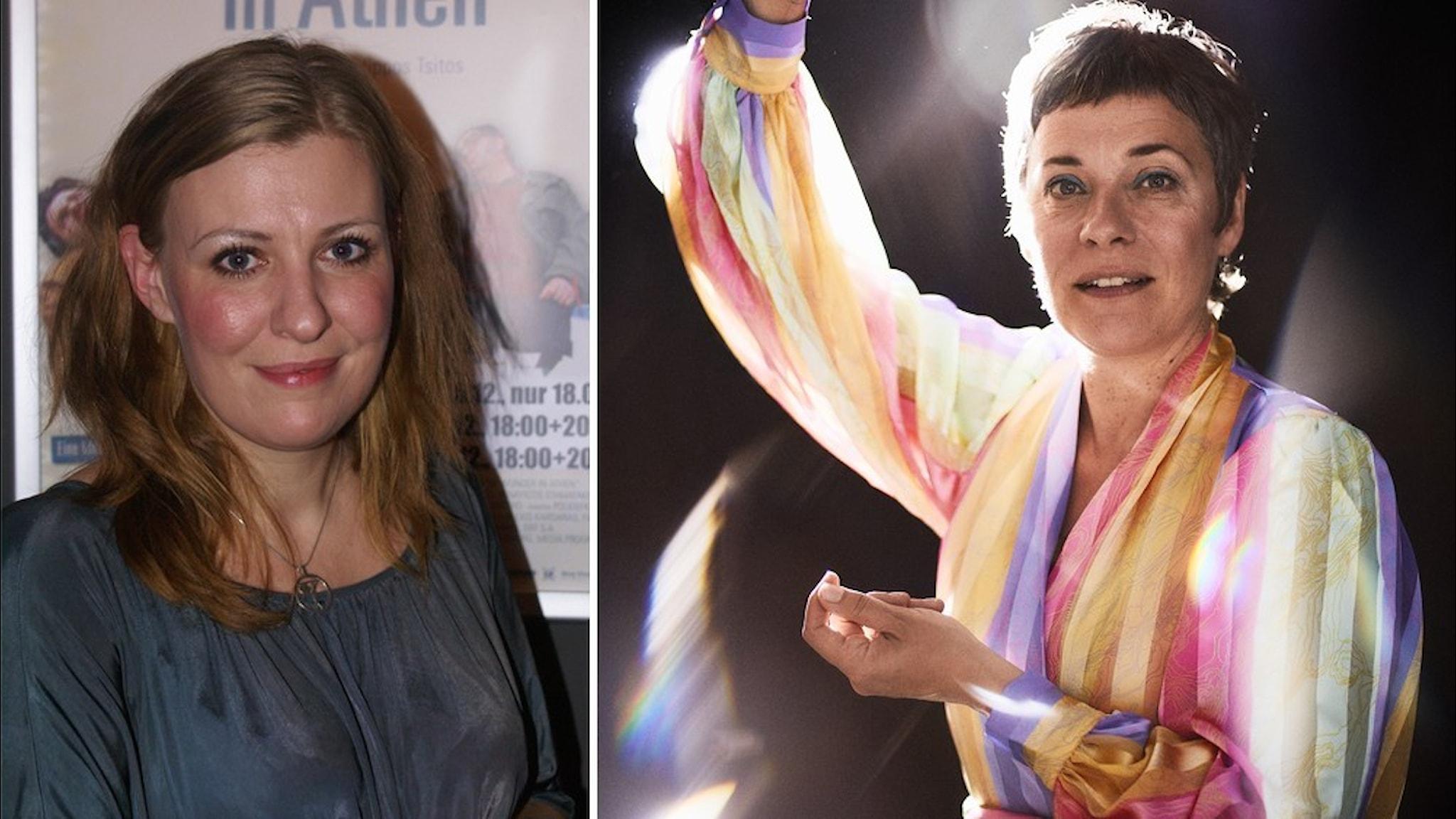 Jazzartisterna Ida Sand och Lina Nyberg.