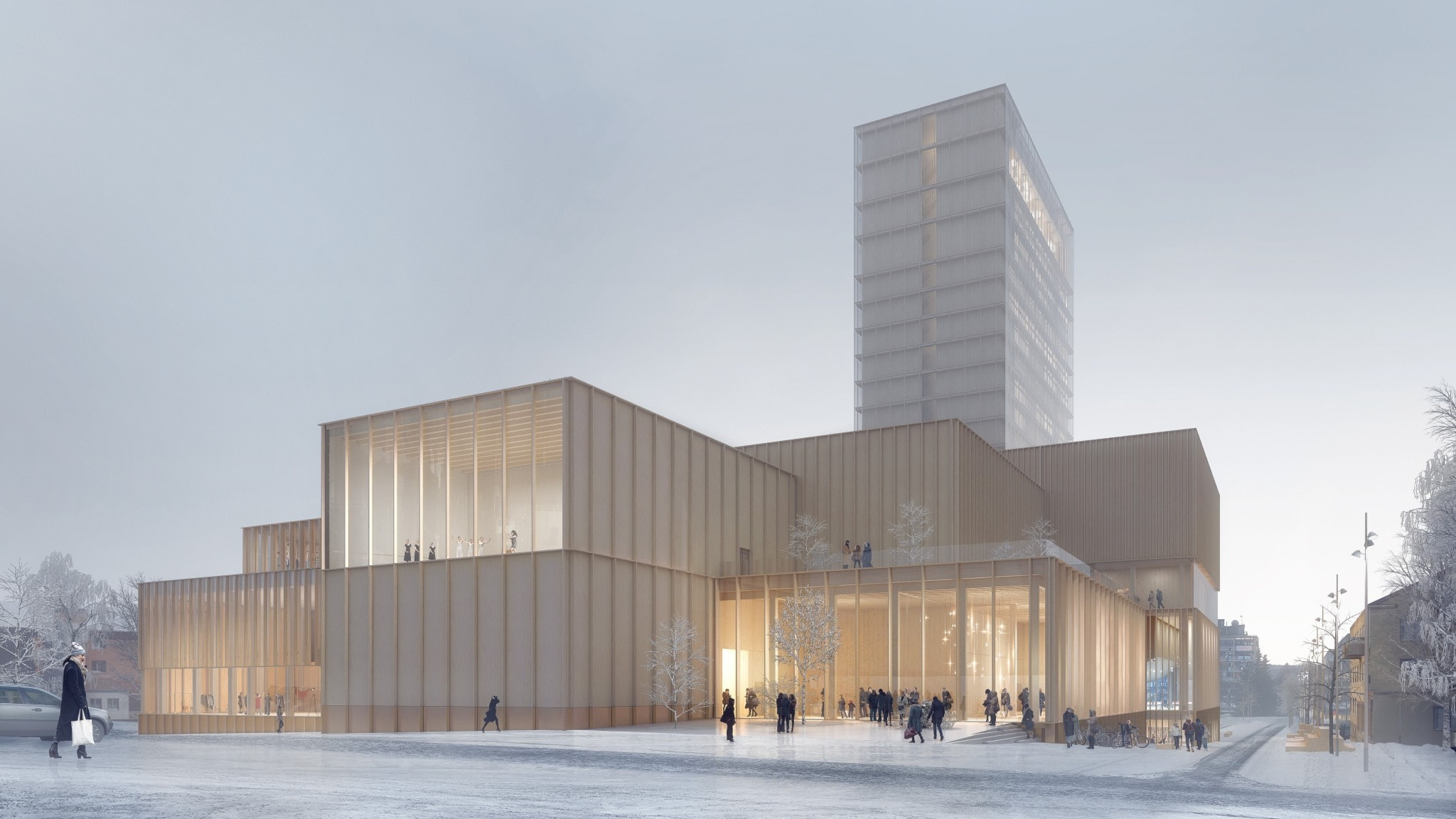 Trähus mot nya höjder – kulturhuset Sara blir högst i norra Europa