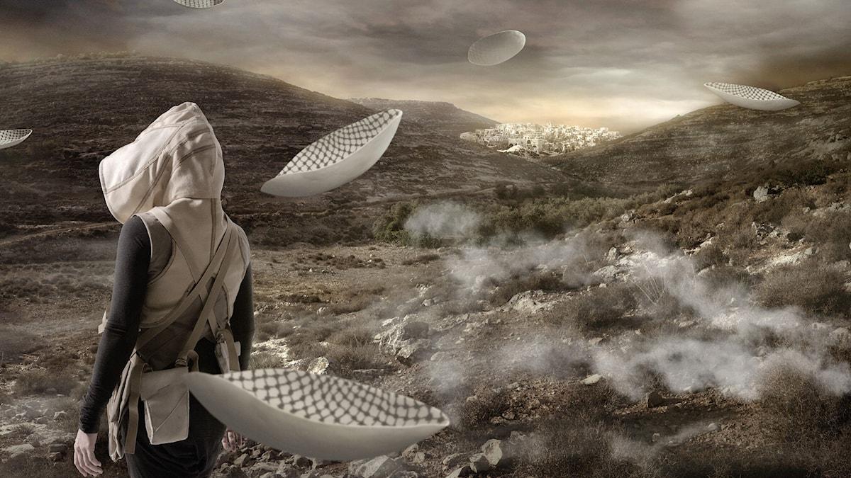 """In the future - ur verk av Larissa Sansour som visas på Borås konstmuseums  utställning"""" Somewhere in Between"""""""