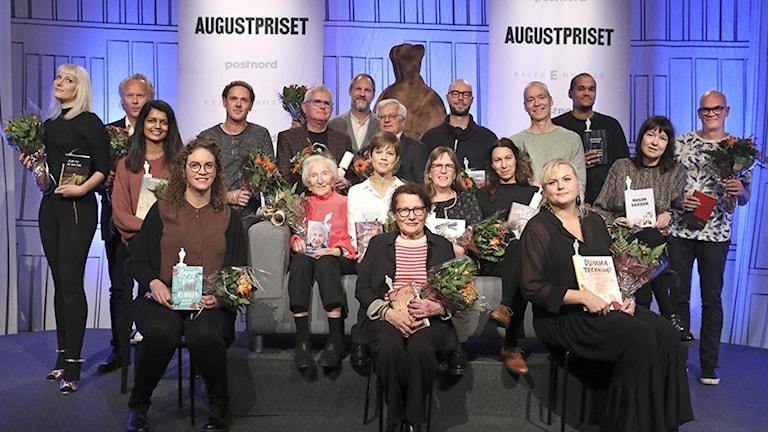Årets nominerade författare till Augustpriset.