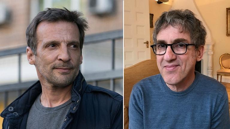 Mathieu Kassovitz i Falsk identitet och seriens skapare Éric Rochant.