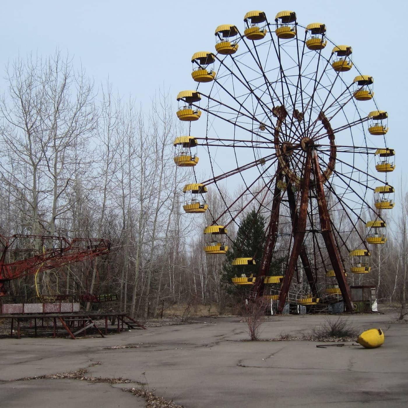 I spökstaden Pripjat står pariserhjulet kvar
