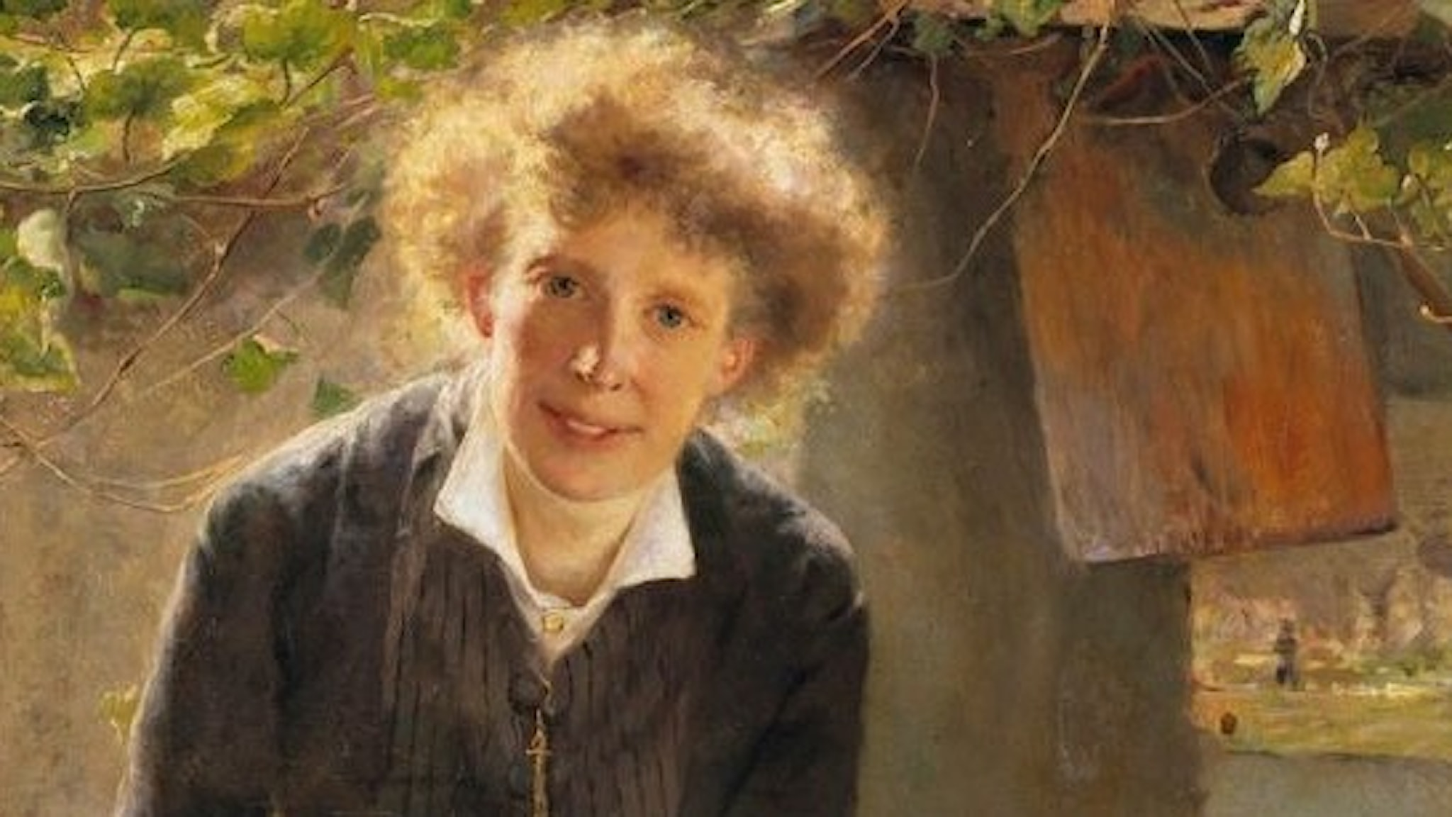 Bertha Wegmann, Konstnären Jeanna Bauck, 1881, Nationalmuseum.