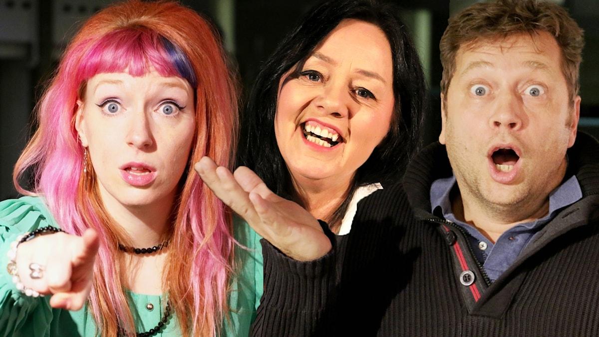 Josefin Johansson, Åsa Jinder och Johan Petersson. (Bilden är ett montage)