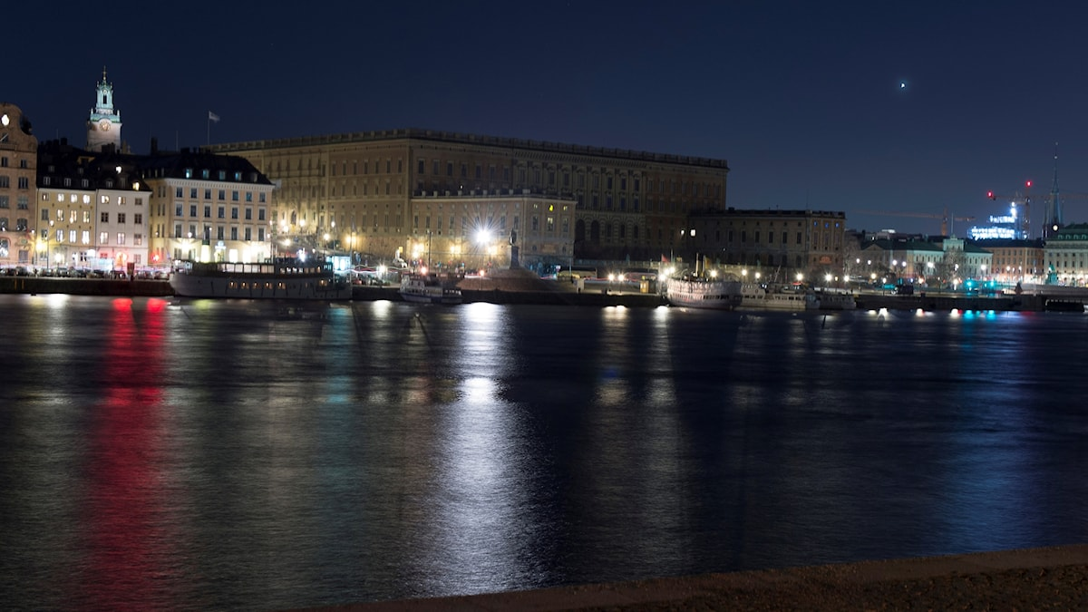Stockholms slott under Earth Hour