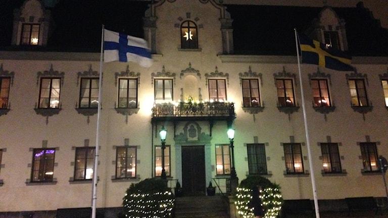 Malmö Stortorget itsenäisyysiltana 6.12.2017.