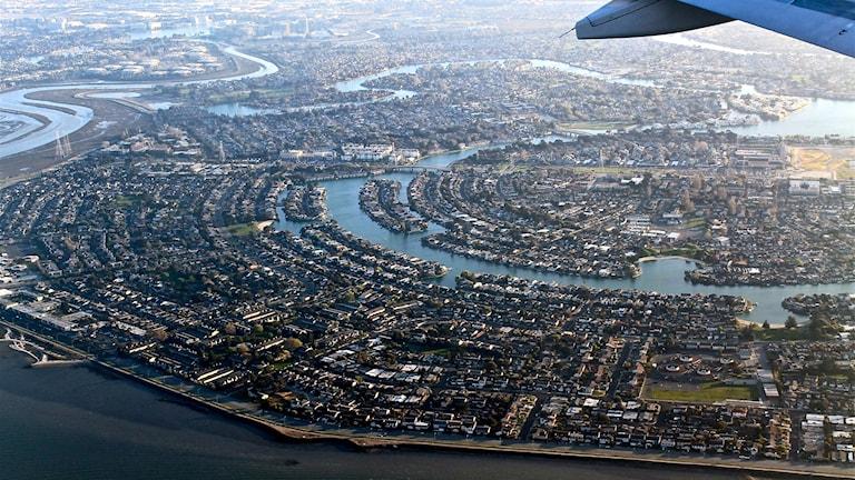 Silicon Valley eli Piilaakso ylhäältä päin kuvattuna.
