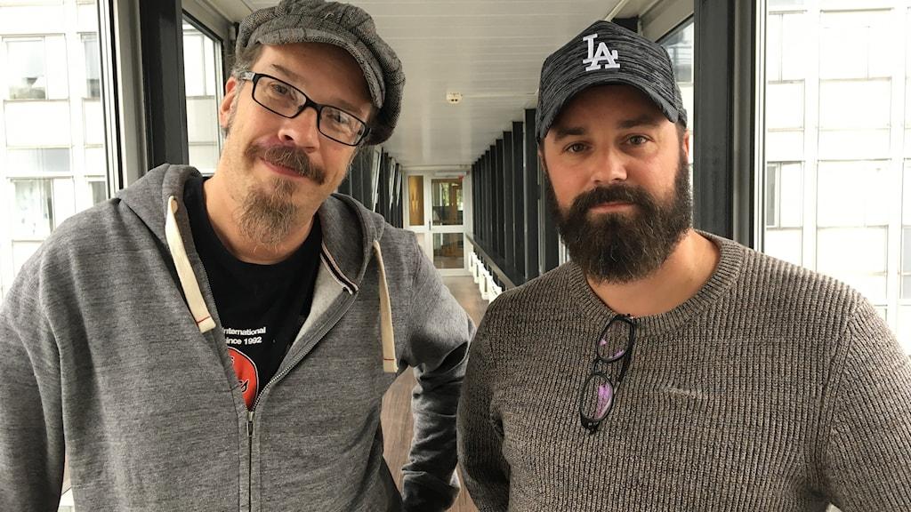Wentus Blues Bandin Robert Hagnäs ja Juho Kinaret Sisuradiossa 27. syyskuuta 2018.