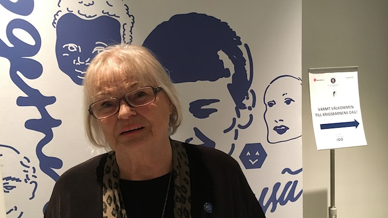 Suomalaisten sotalasten puheenjohtaja Irja Olsson