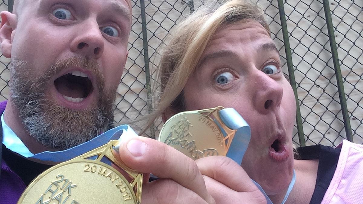 Martin Marhlo och Kristin Holmberg på P4 Sjuhärad.