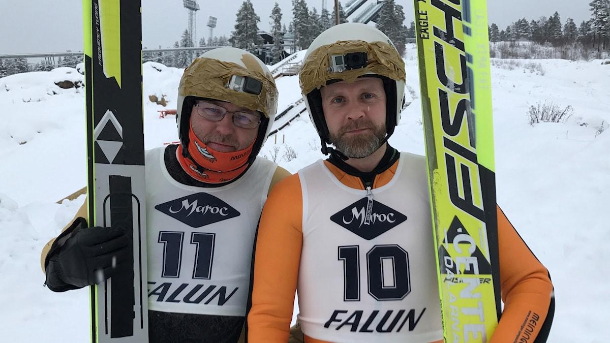 Lasse Persson och Martin Marhlo. Foto: Andreas Lundin/SR