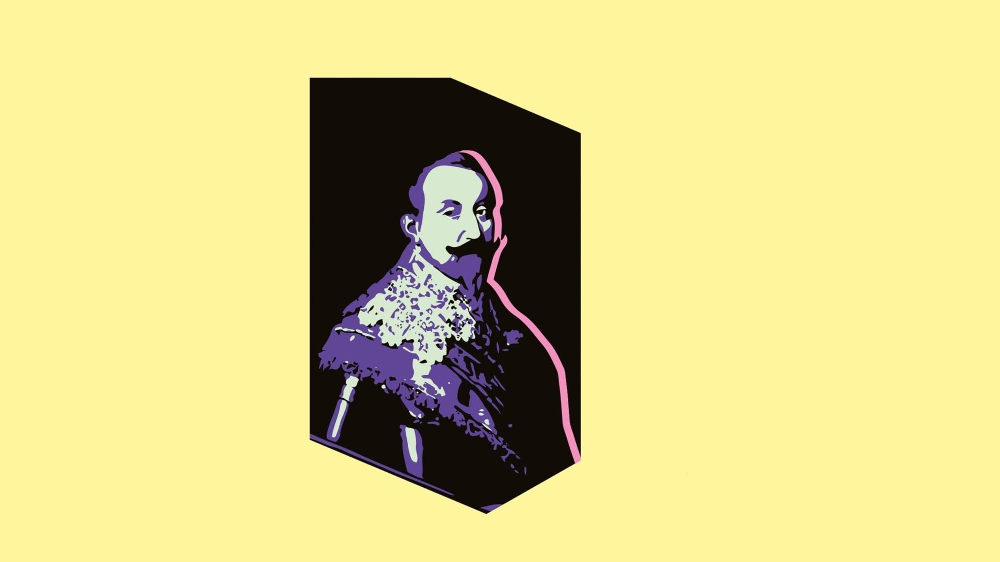 Gustav II Adolf -hjältekung med krossat hjärta
