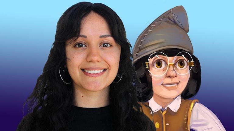 Frida Bagri spelar hustomten Jenny.