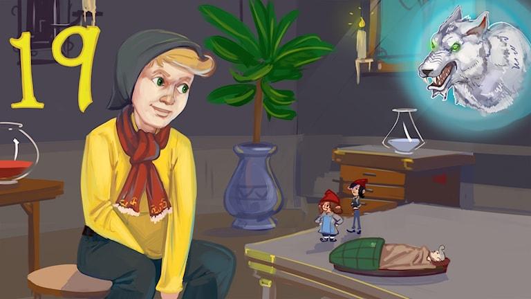 Marvinter, del 19. Hugo träffar pysslingarna. Bild: Arslan Tursic