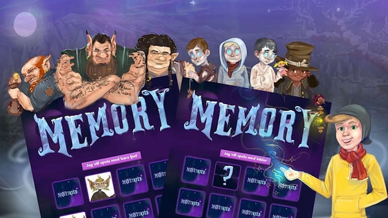 Spridningsbild till memoryspelet.