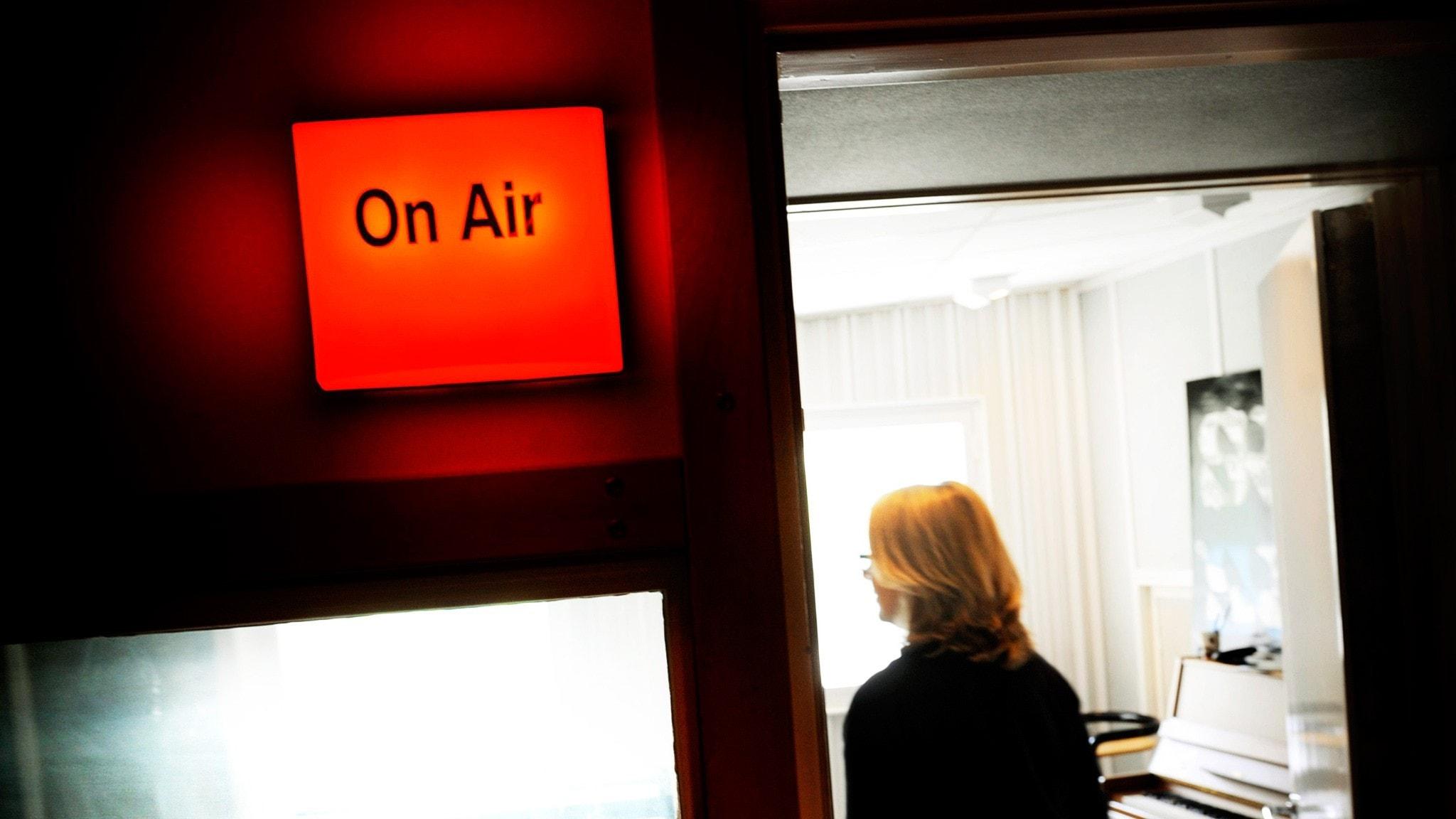 Sändning i radiostudio