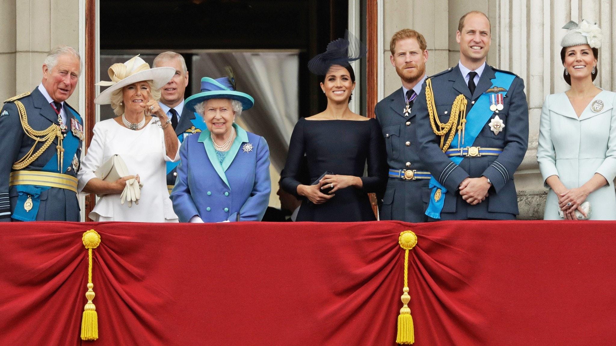 Den brittiska kungafamiljen.