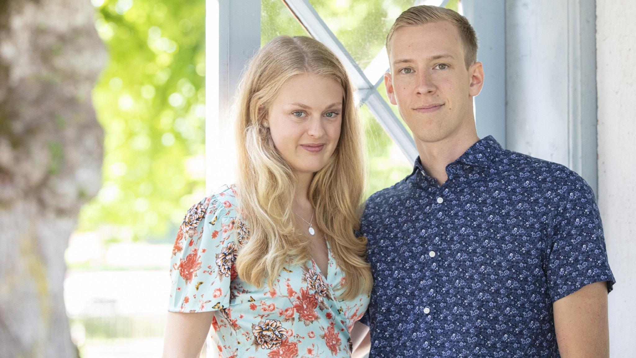 Gift vid första Ögonkastet paret Anton och Sofia