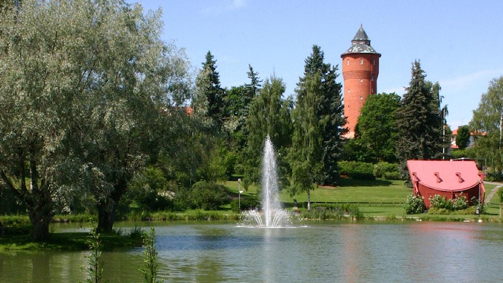 Kumlasjön, en idyll men kritik kring maktens korridorer. Foto: Göran Ekberg (bilden är beskuren)