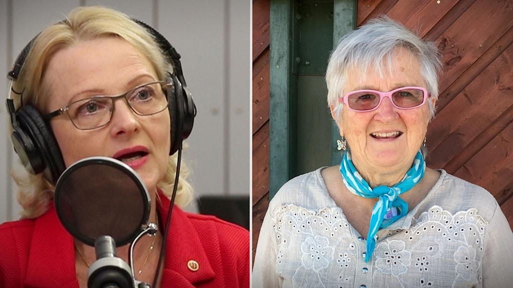 Helene Fritzon (S) och Ulla Bertilsson.