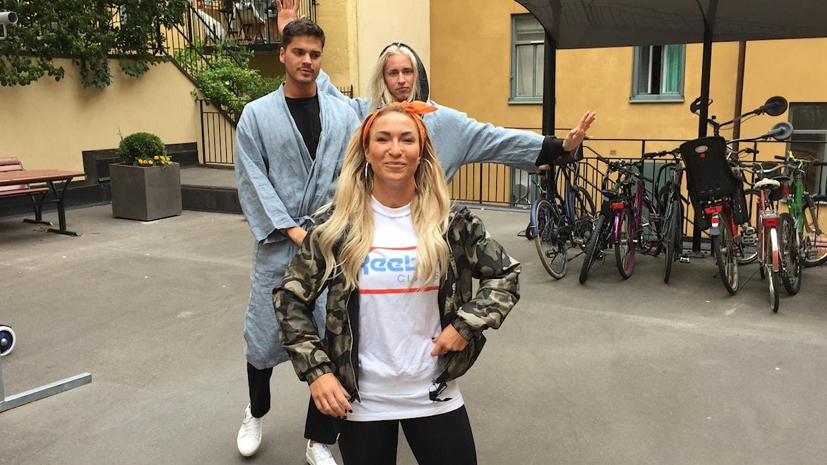 Zia, Nessvold och Pischa Strindstedt.