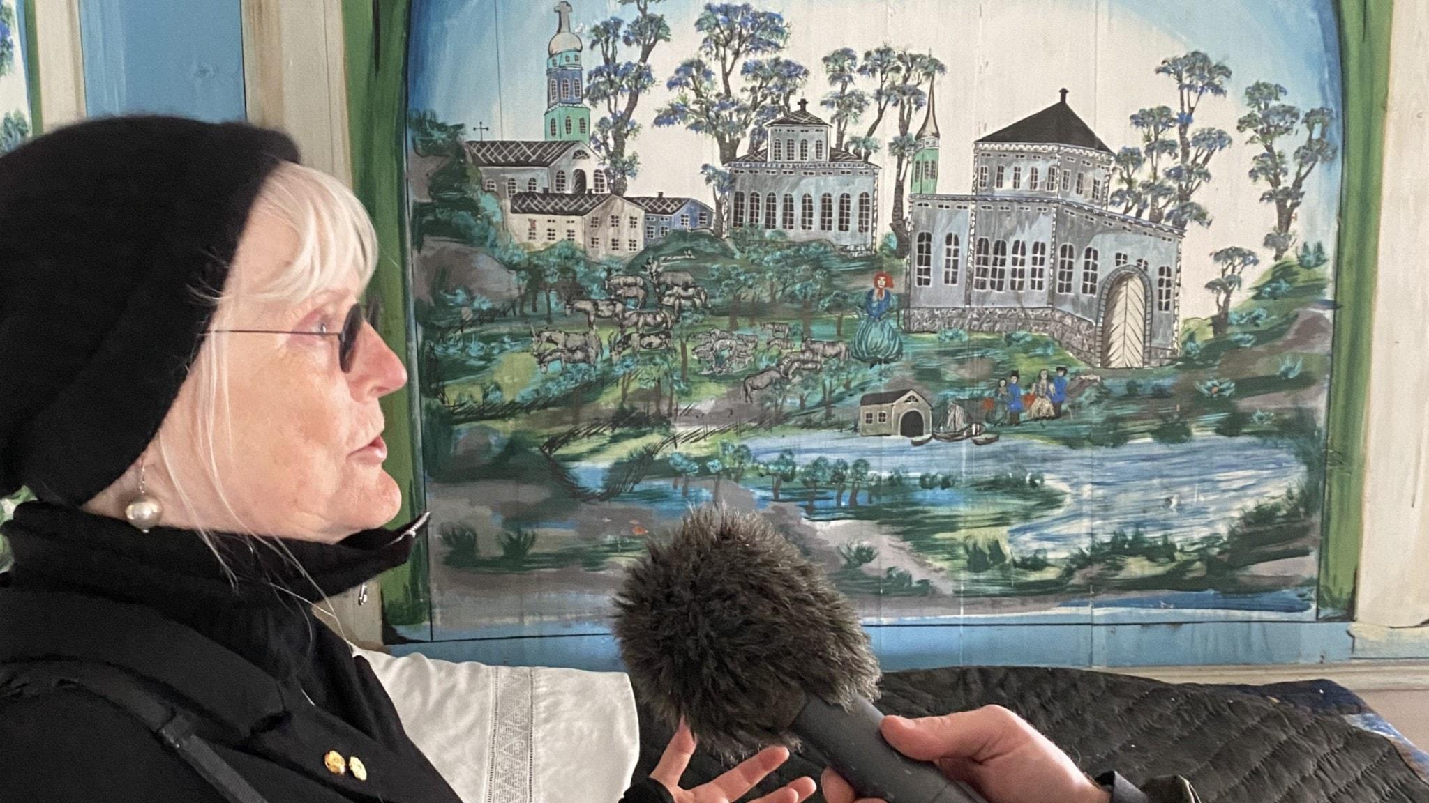 Ulla Skoog i hälsingegården Pallars.