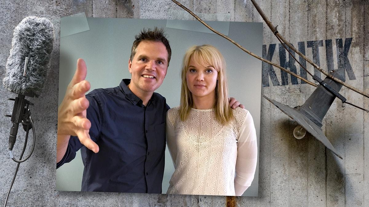 Kjell Eriksson och vetenskapsjournalisten Emma Frans.