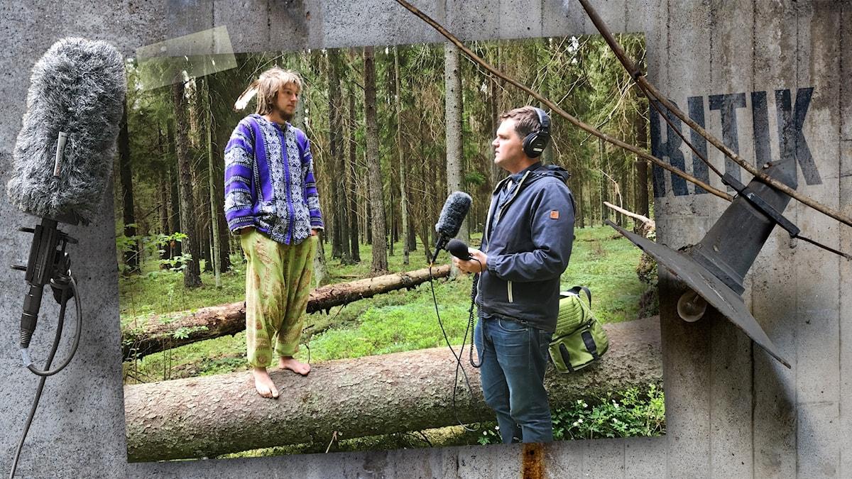 Fågelviskaren Andris och Kjell Eriksson pratar om att vara källkritisk i naturen.