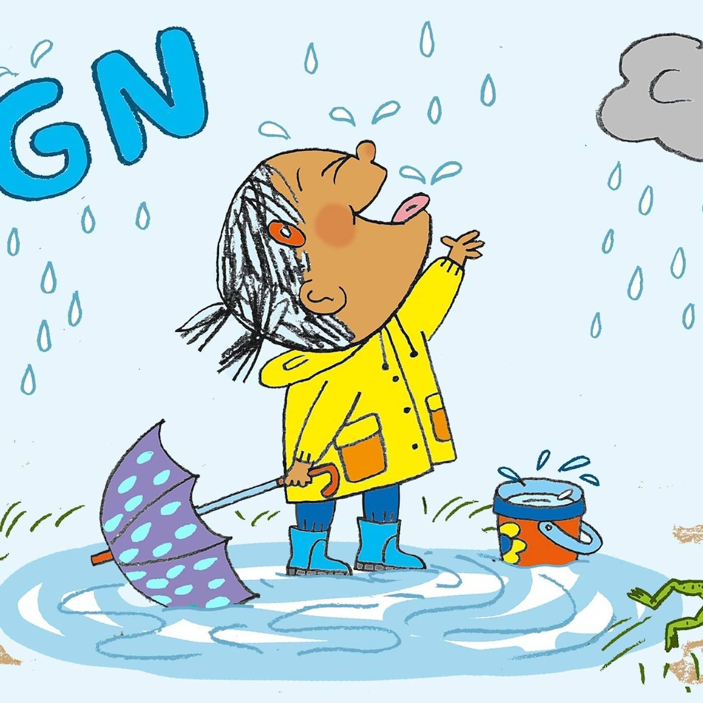 Plipp plopp regn
