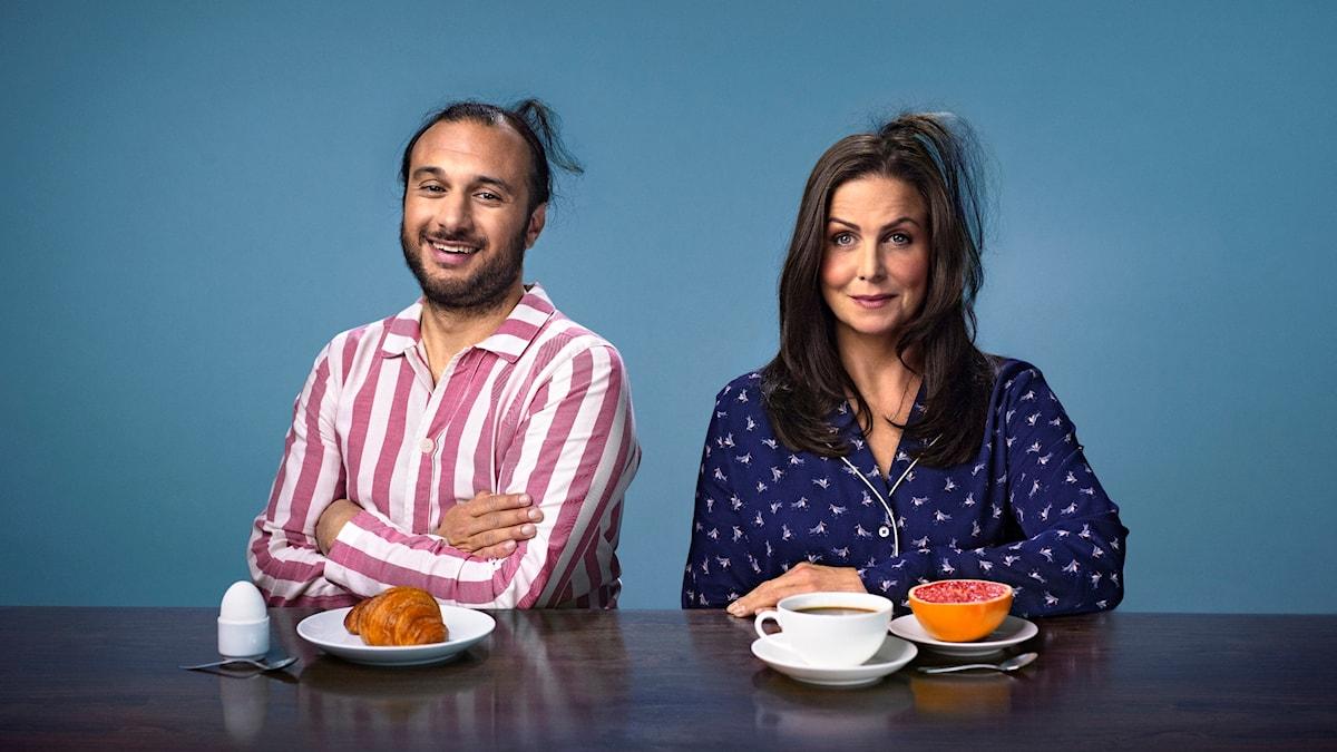 Programbild för P5 STHLM morgon med Titti Schultz och Farzad Nouri