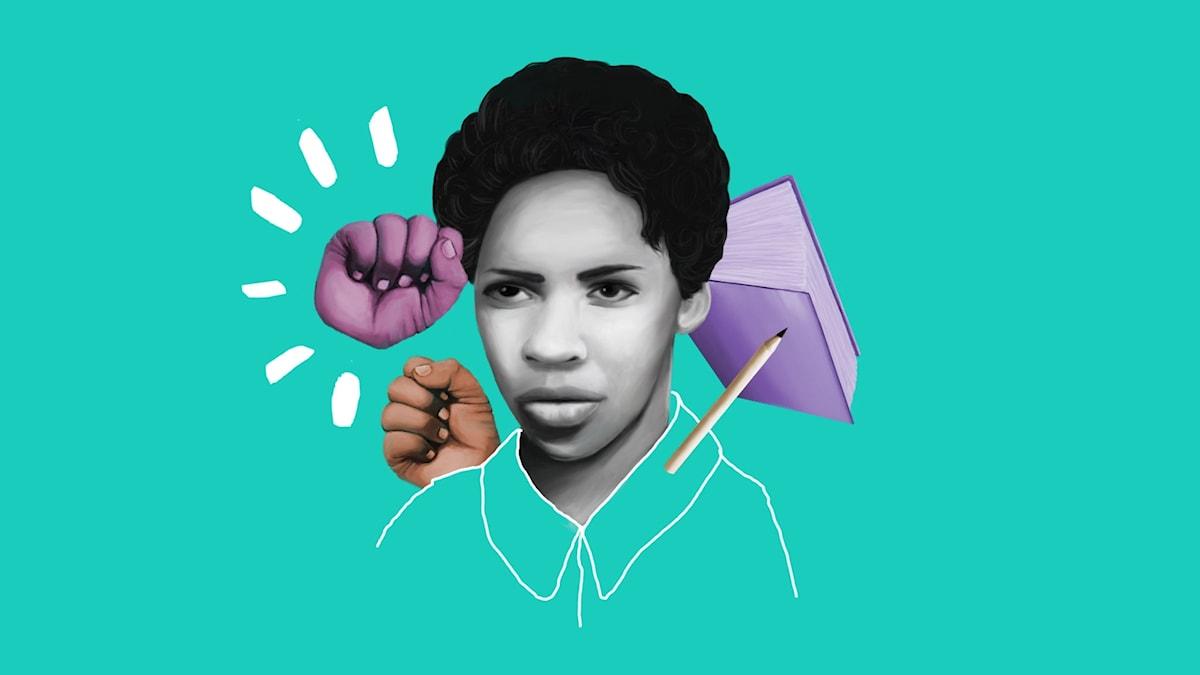 Barnen som förändrade världen: Glorias modigaste dag  Illustration: Rosanna Sandberg
