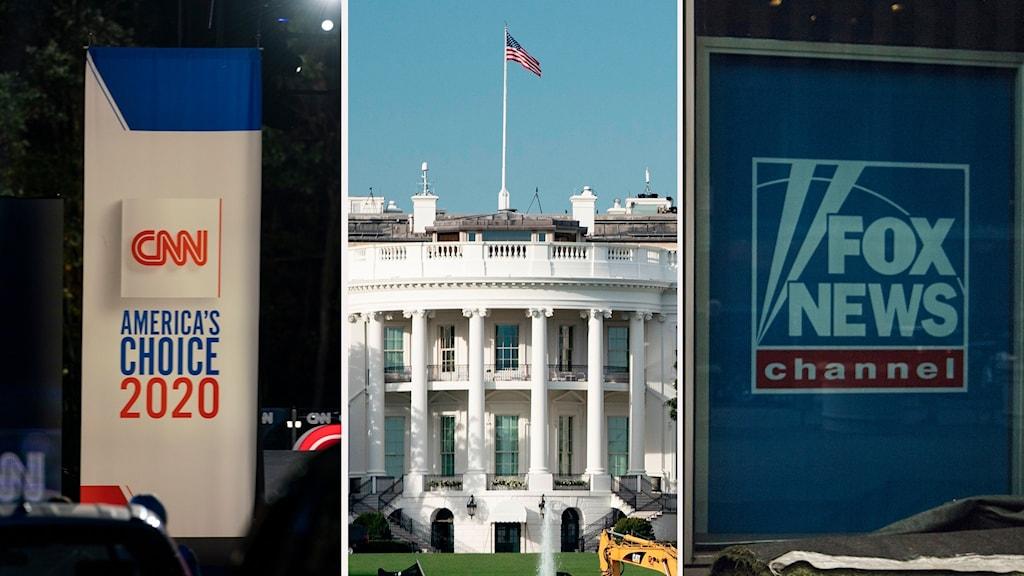 CNN, Vita Huset och Fox News