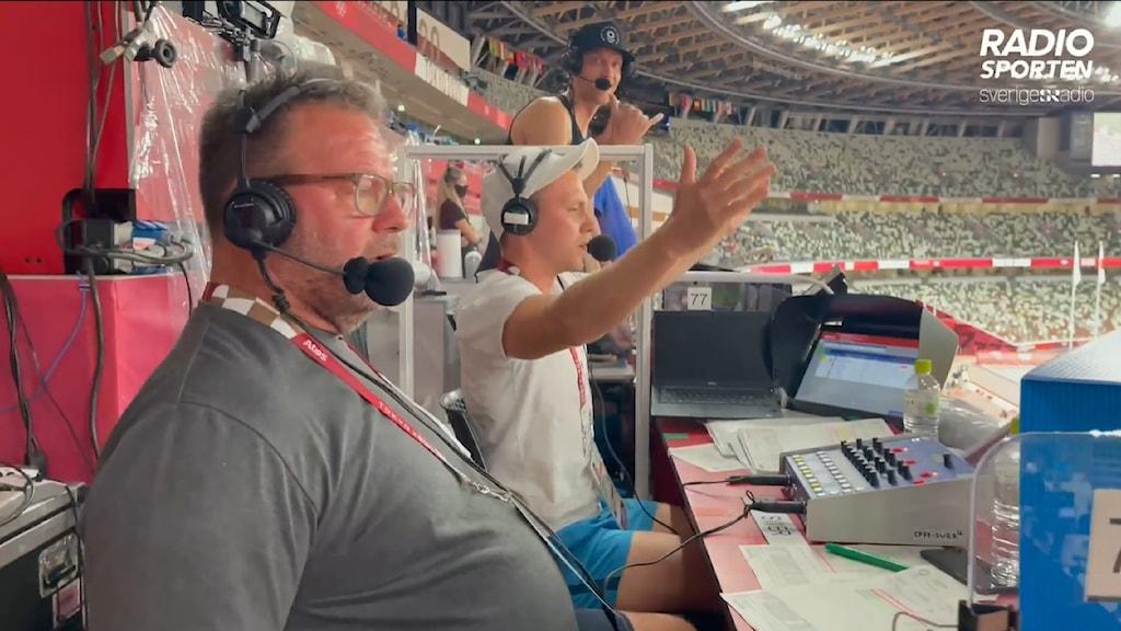 OS kommentatorer friidrott Alexander Lundholm och Miro Zalar