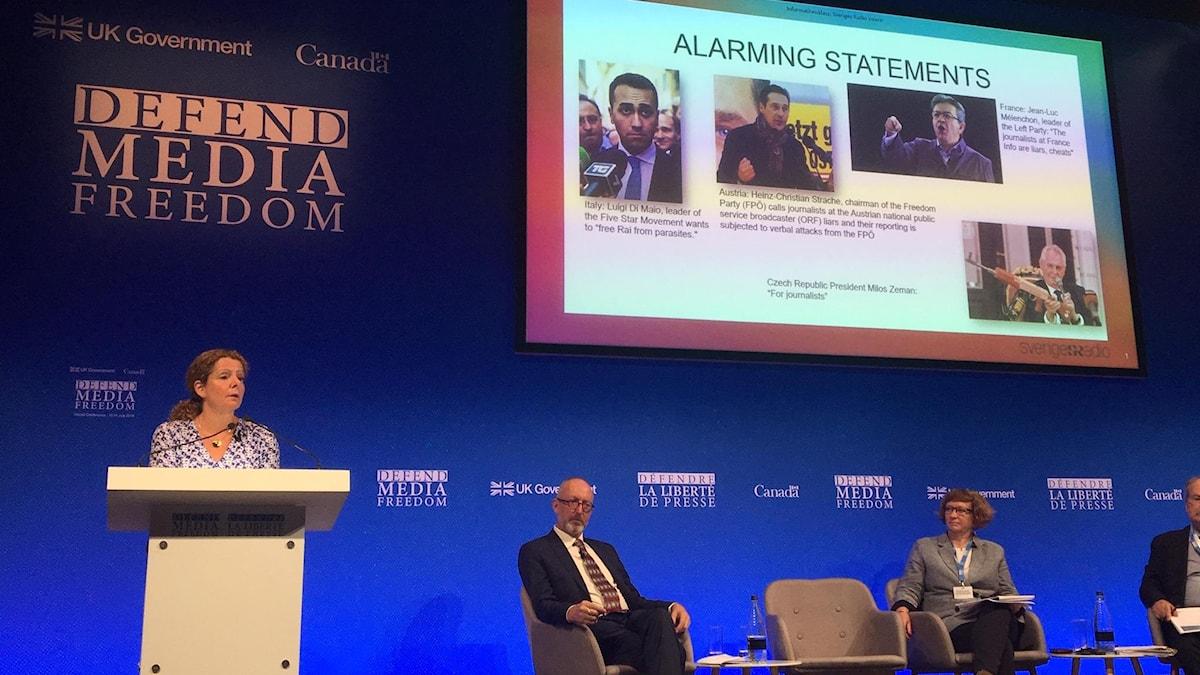 Londonkonferens Cilla Benkö och panel