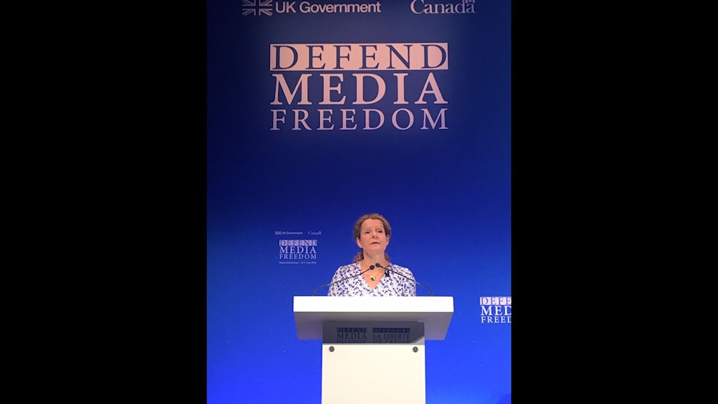 Londonkonferens Cilla Benkö talar