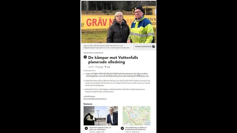 Nyhetstext i tre punkter från P4 Sörmland
